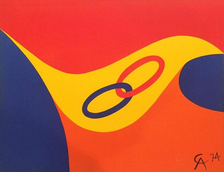 Alexander Calder Friendship - Black Abstract Print by Alexander Calder