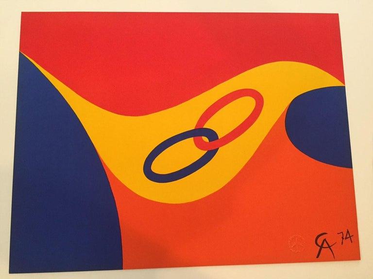 Alexander Calder Friendship Artist: Alexander Calder Medium: Original lithograph Title: Friendship Portfolio: Flying Colors Year: 1974 Edition: Open Framed Size: 30