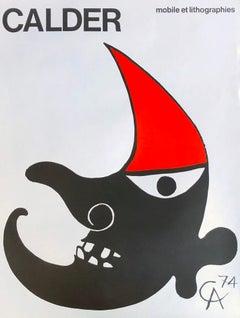 Alexander Calder Mobile et Lithographies poster 1970s (Calder prints)