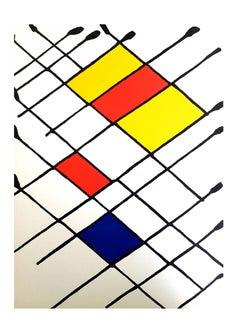 Alexander Calder - Lithograph - Behind the Mirror