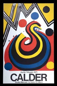Alexander Calder Exhibition Poster  - Vintage Offset Print and Lithograph - 1971