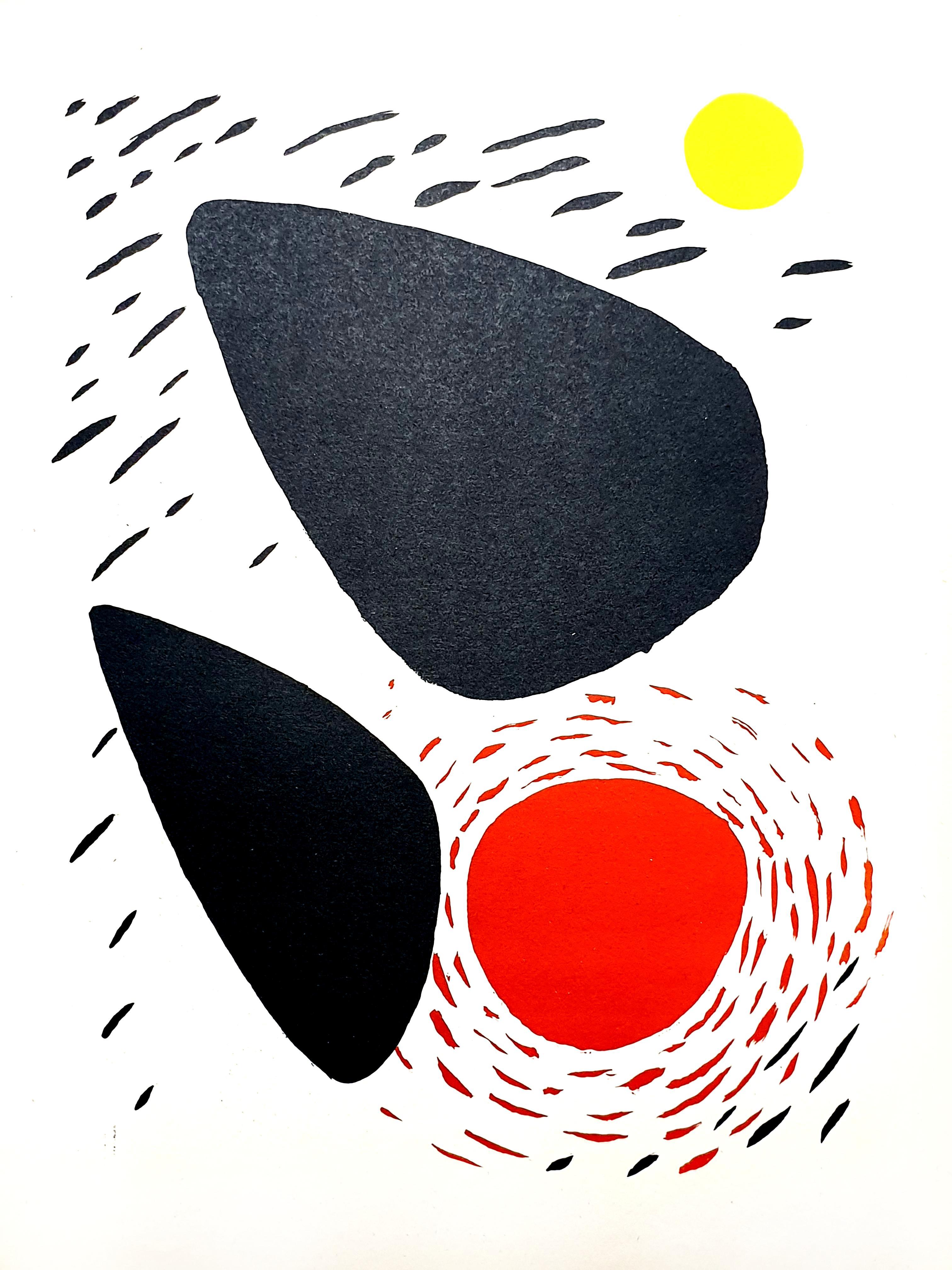 Alexander Calder - Rocks and Sun - Original Lithograph