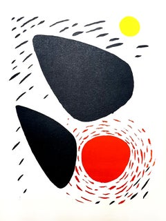 Alexander Calder - Rocks and Sun - Original Lithograph