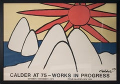 "Alexander Calder-Works in Progress-31.75"" x 45.5""- Framed Lithograph-1973"