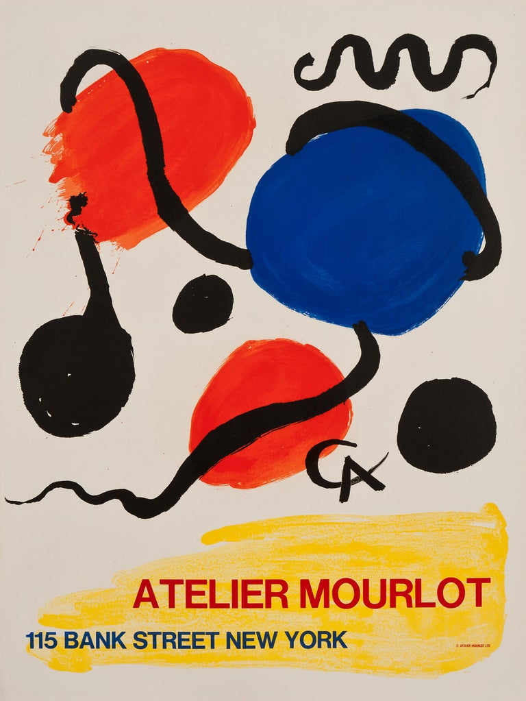 Arches Paper - Perfect Condition A+  When The Mourlot Studio opened a branch in New York City, after a successful exhibition organized by the Smithsonian Institute in 1963, it commissioned several famous International artists to create a series of