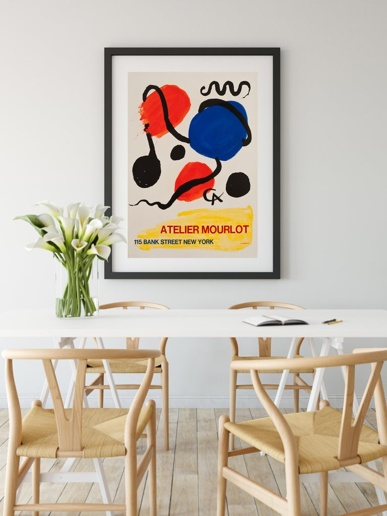 Atelier Mourlot by Alexander Calder, 1967 Original Lithographic poster For Sale 1