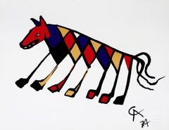 Beastie (Braniff Flying Colors), 1974 Ltd Ed Lithograph, Alexander Calder