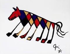 Beastie (Braniff Flying Colors), 1974 Ltd Ed Lithograph, Alexander Calder