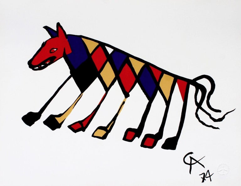 Alexander Calder Abstract Print - Beastie (Braniff International Airways Flying Colors Collection)