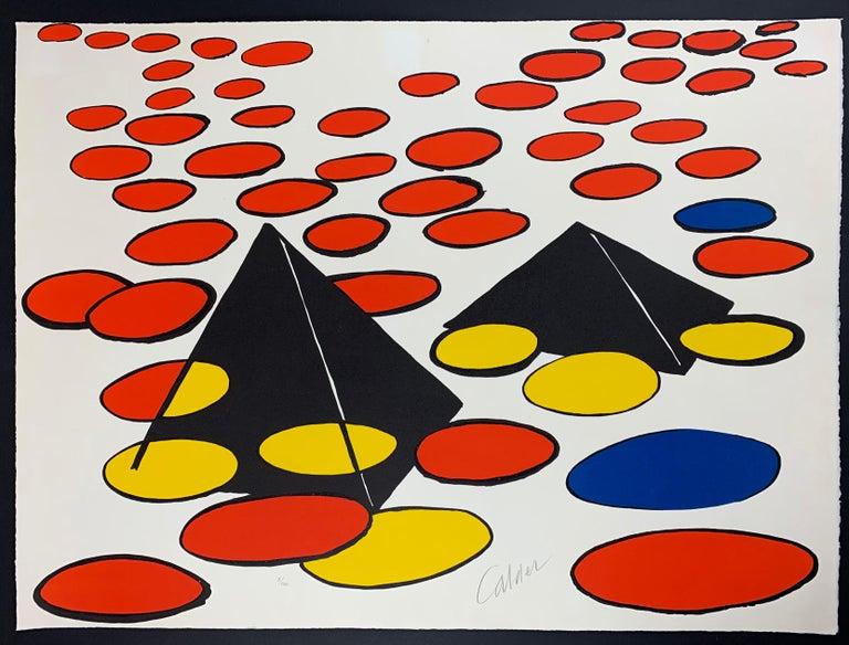 Black Pyramids - Print by Alexander Calder