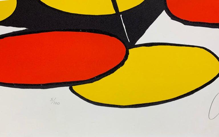 Black Pyramids - Abstract Print by Alexander Calder