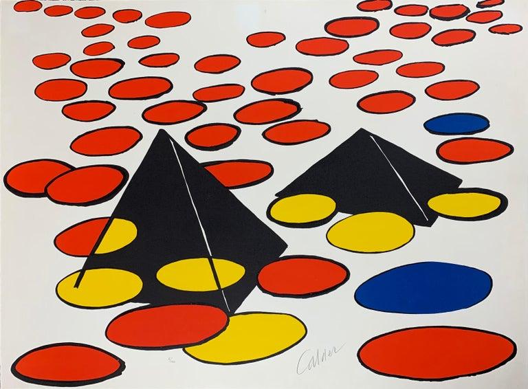 Alexander Calder Abstract Print - Black Pyramids