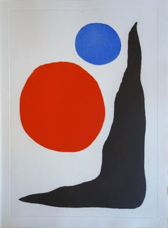 Blue and Red Ball - Original color Etching and Aquatint - 1967
