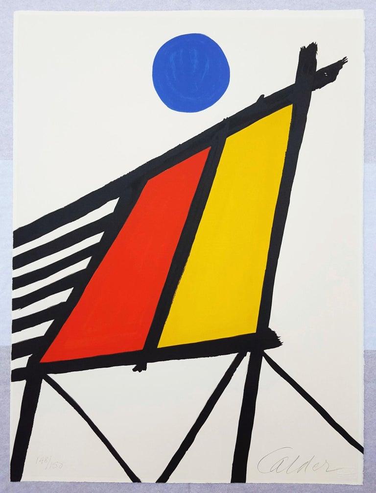 Blue Sun - Print by Alexander Calder