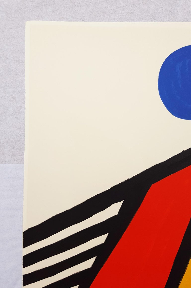 An original signed lithograph on Arches paper by American artist Alexander Calder (1898-1976) titled
