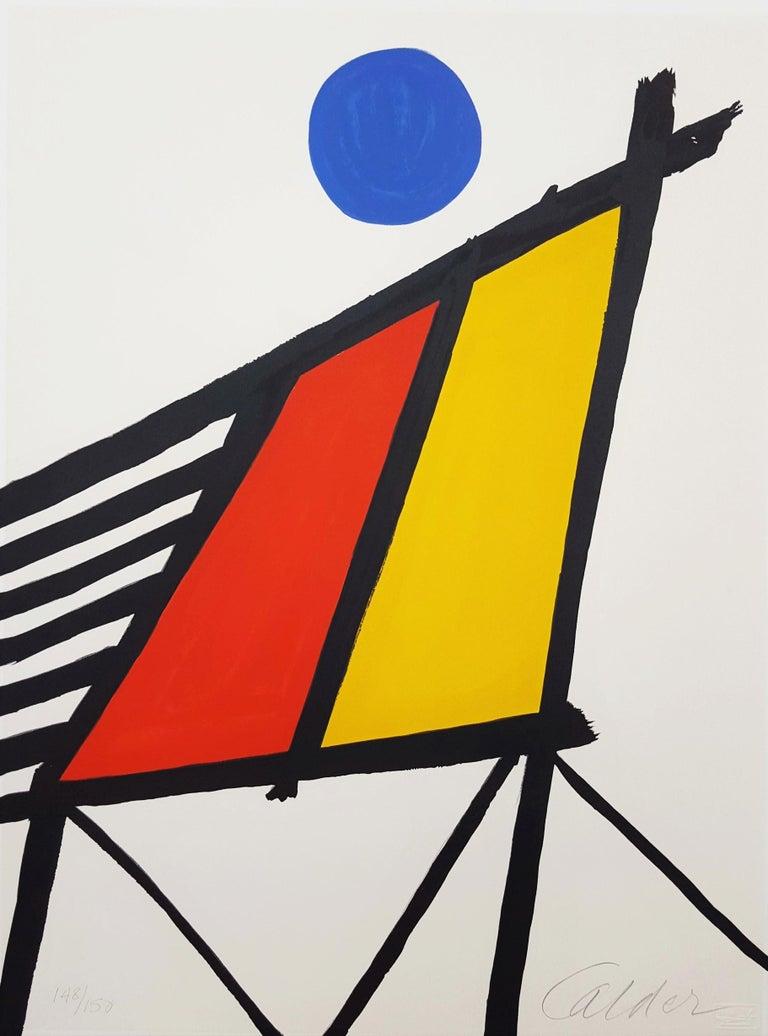 Alexander Calder Abstract Print - Blue Sun