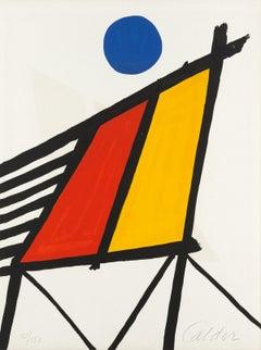 Blue Sun -- Print, Lithorgaph, Abstract by Alexander Calder