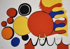 Bull and Circles, from: Poems to Watch  Poemas para Mirar