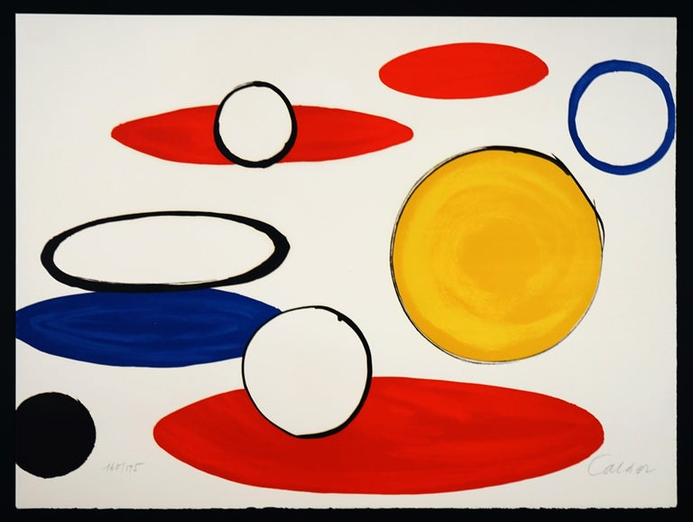 """Alexander Calder Abstract Print - """"Circles"""" from Our Unfinished Revolution"""