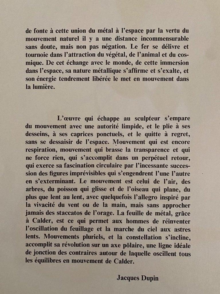 Composition - Original Lithograph by Alexander Calder - 1968 For Sale 1