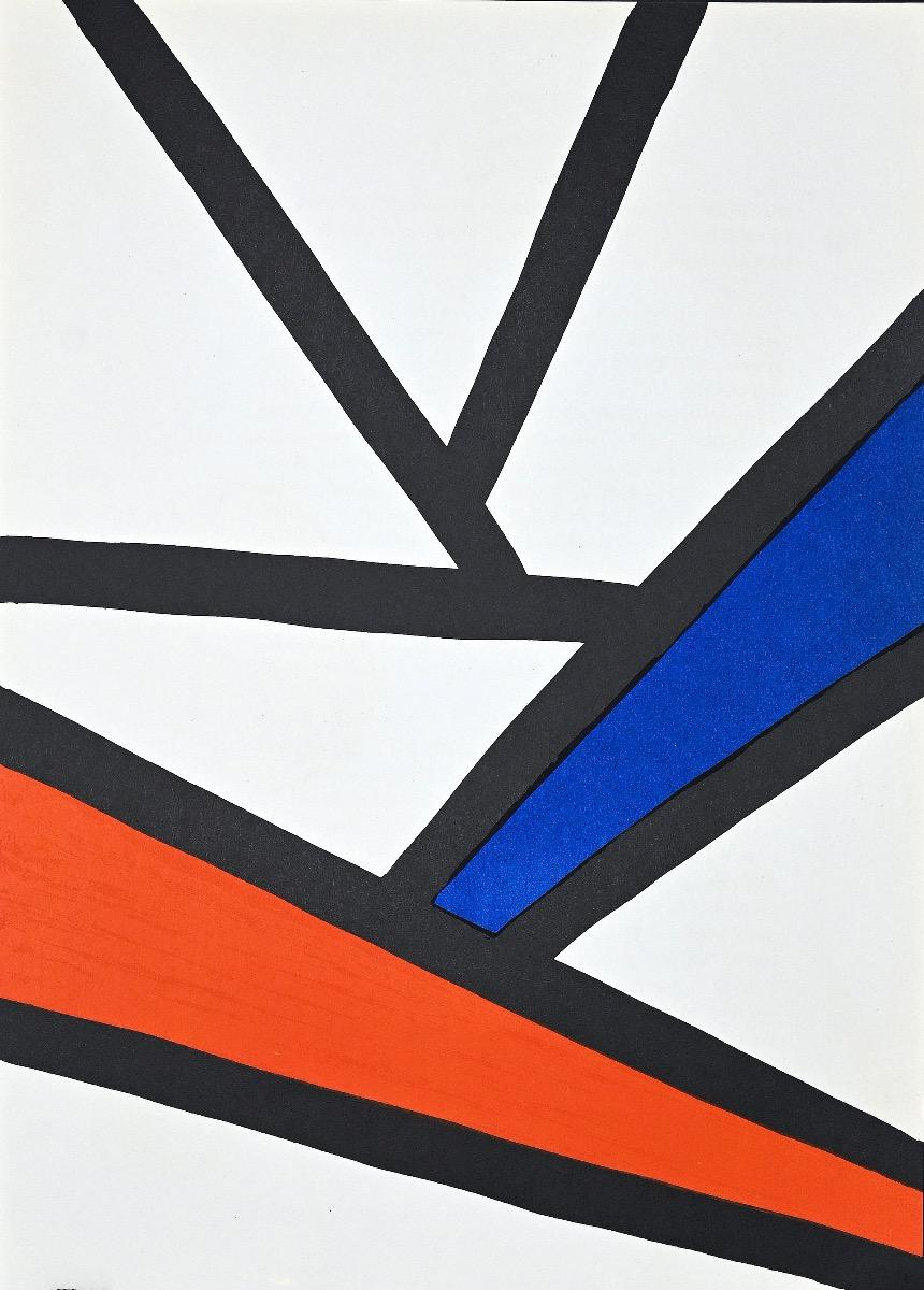 Composition - Original Lithograph by Alexander Calder - 1968