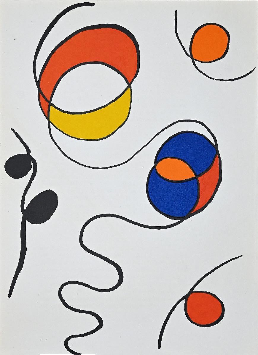 Composition - Lithograph by Alexander Calder - 1968
