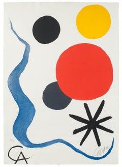 Composition - Etching & Aquatint by Alexander Calder - circa 1971