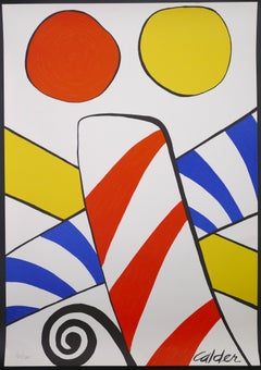 Composition With Circles - Vintage Lithographic Poster - A. Calder - 1969