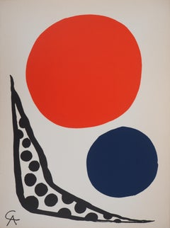 Composition with Red and Blue Ball - Original lithograph (Mourlot)