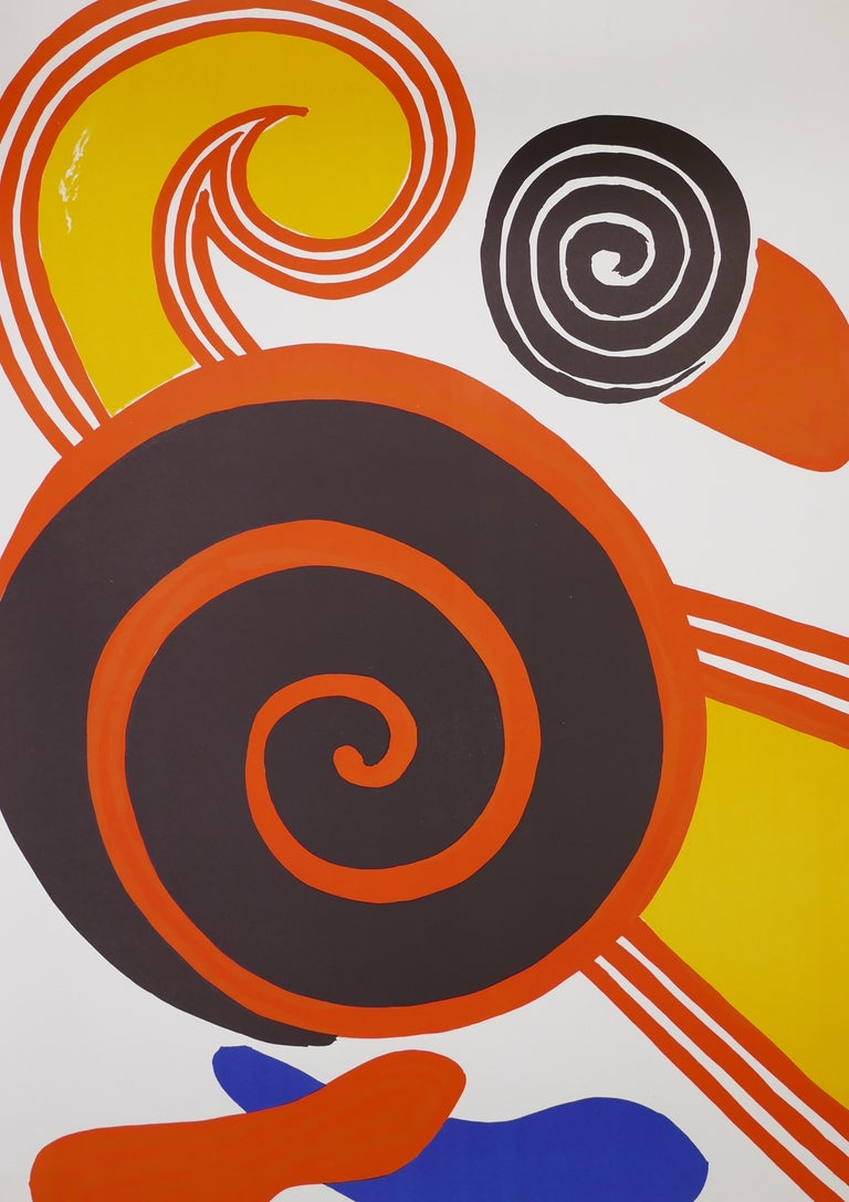 Composition With Spirals - Vintage Lithographic Poster - A. Calder - 1969 - Print by Alexander Calder