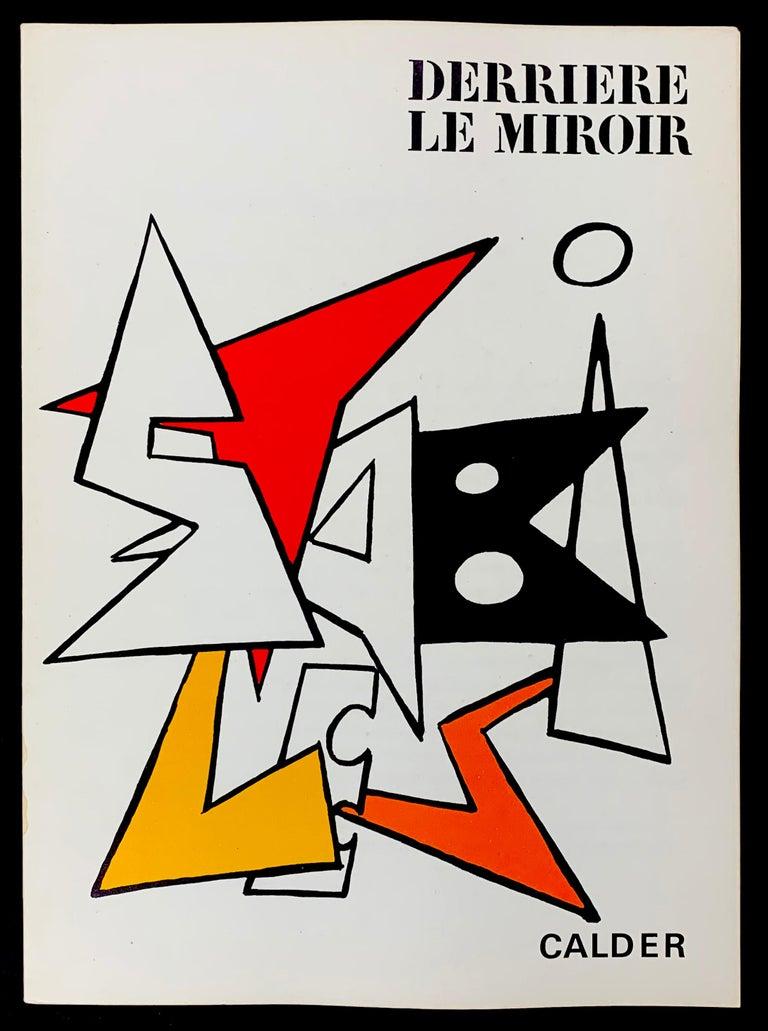 Alexander Calder Abstract Print - Derriere Le Miroir No. 141 Cover