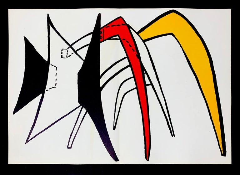 Alexander Calder Abstract Print - Derriere Le Miroir No. 141 Stabile 1