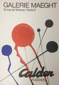 """Fleches"" Galerie Maeght Event Poster, Published by Maeght Editeur- Paris"