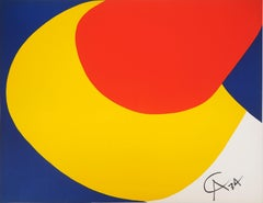 Flying Colors - Abstraction, 1974 - Original lithograph, Signed