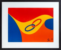 Flying Colors for Braniff Airlines, Abstract Lithography by Alexander Calder