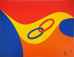 Flying Colors - Rings, 1974 - Original lithograph, Signed