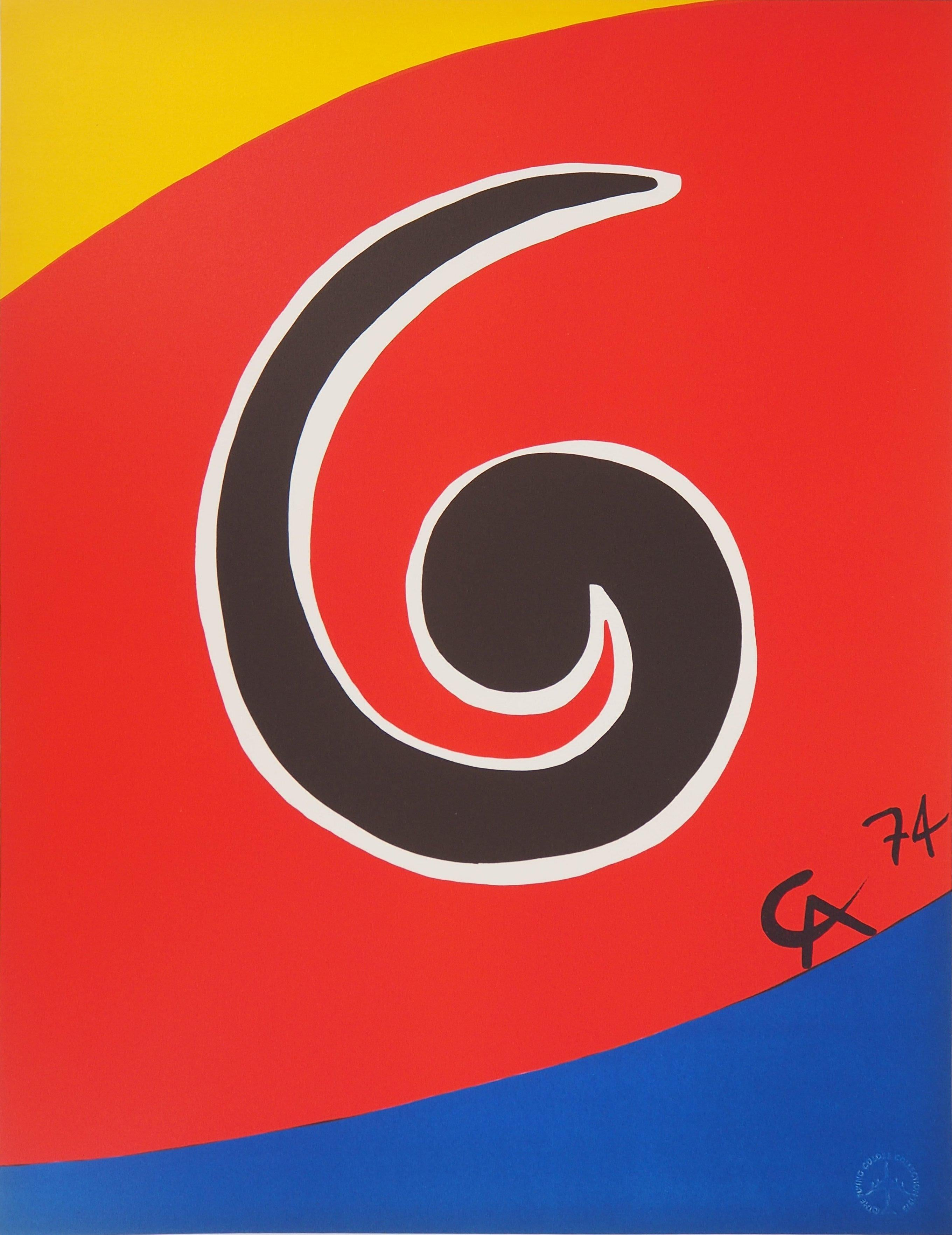 Flying Colors - Spiral, 1974 - Original lithograph, Signed