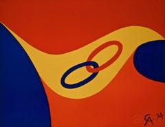 Friendship (Braniff Flying Colors),1974 Ltd Ed Litho, Alexander Calder