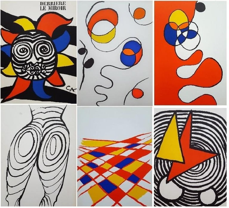 Alexander Calder Abstract Print - Group of 6 Lithographs