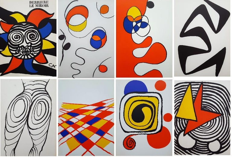 Alexander Calder Abstract Print - Group of 8 Lithographs