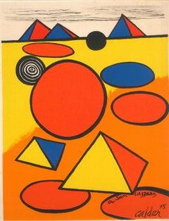 Hommage à San Lazzaro - Original Lithograph Alexander Calder - 1975