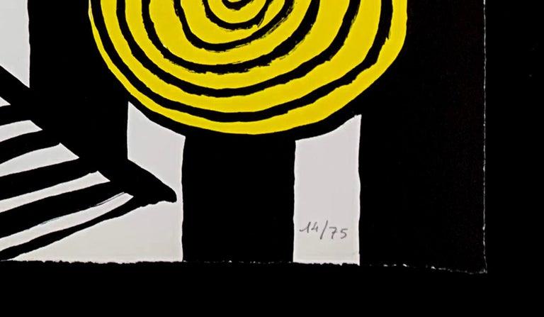 LE S ET LE O - Beige Abstract Print by Alexander Calder