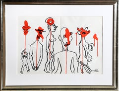 Les Gueules Degoulinantes, 1966 Lithograph by Alexander Calder