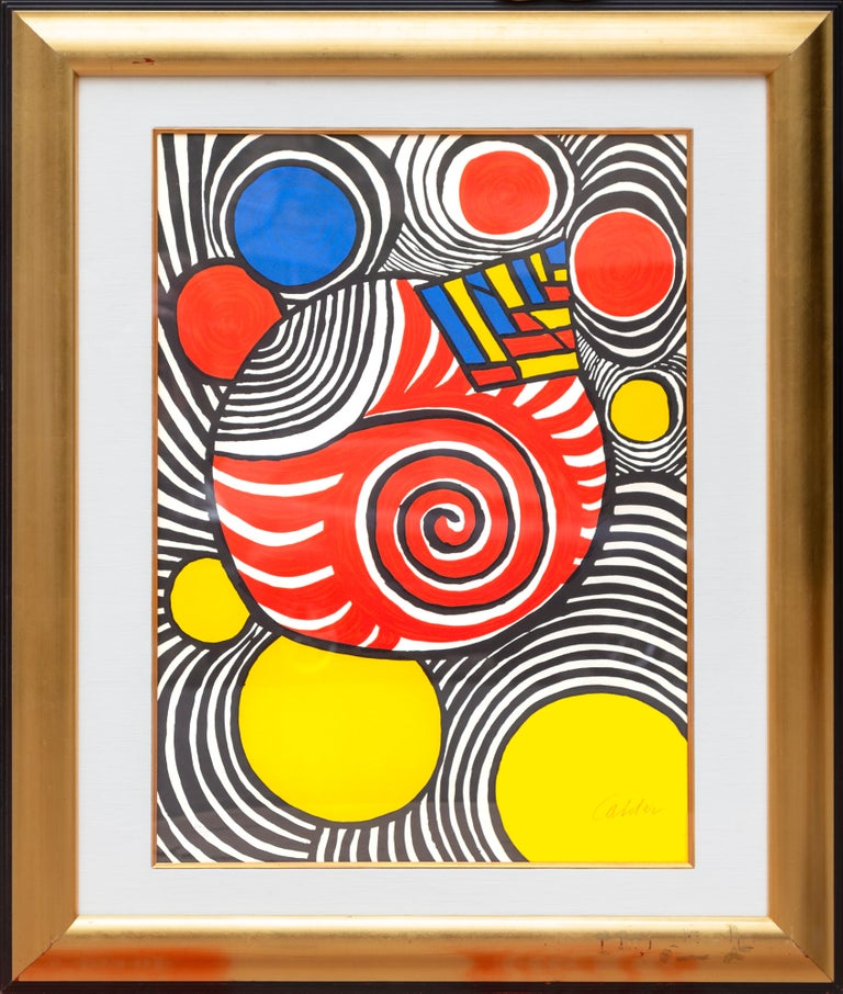 Artist: Alexander Calder, American (1898 - 1976) Title: Les Travestis du Reel Year: circa 1970 Medium: Lithograph, signed in pencil l.r. Edition: 24/150 Size: 28 x 20.5 inches Frame: 38 x 32 inches