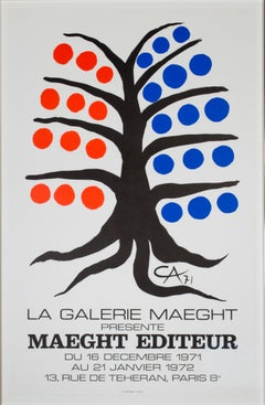 """Maeght Editeur,"" Original Color Lithograph Poster signed by Alexander Calder"