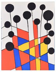 Mosaique Et Ballons Noirs - Original Lithograph Alexander Calder - 1971