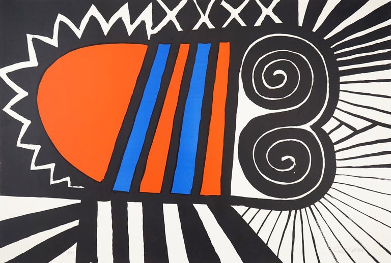 Alexander Calder Abstract Print - Papoose