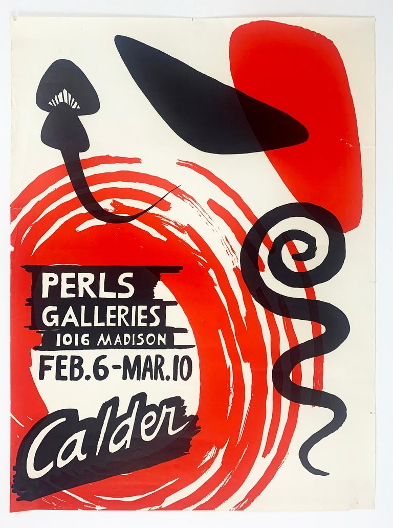 Alexander Calder Abstract Print - Perls Galleries Exhibition Poster