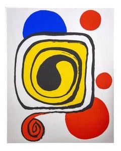 PRICE - Composition - Original Offset Print by Alexander Calder - 1970