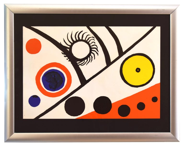 Rayons Noirs - Original Lithograph by Alexander Calder - 1976 For Sale 1